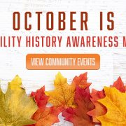 October is Disability History Awareness Month – View Community Events