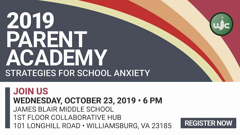 Register for WJCC Parent Academy - Strategies for School Anxiety