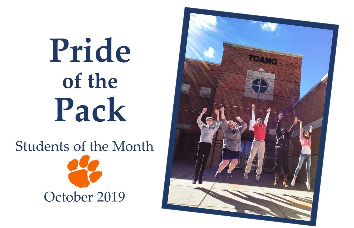 October 2019 Students of the Month