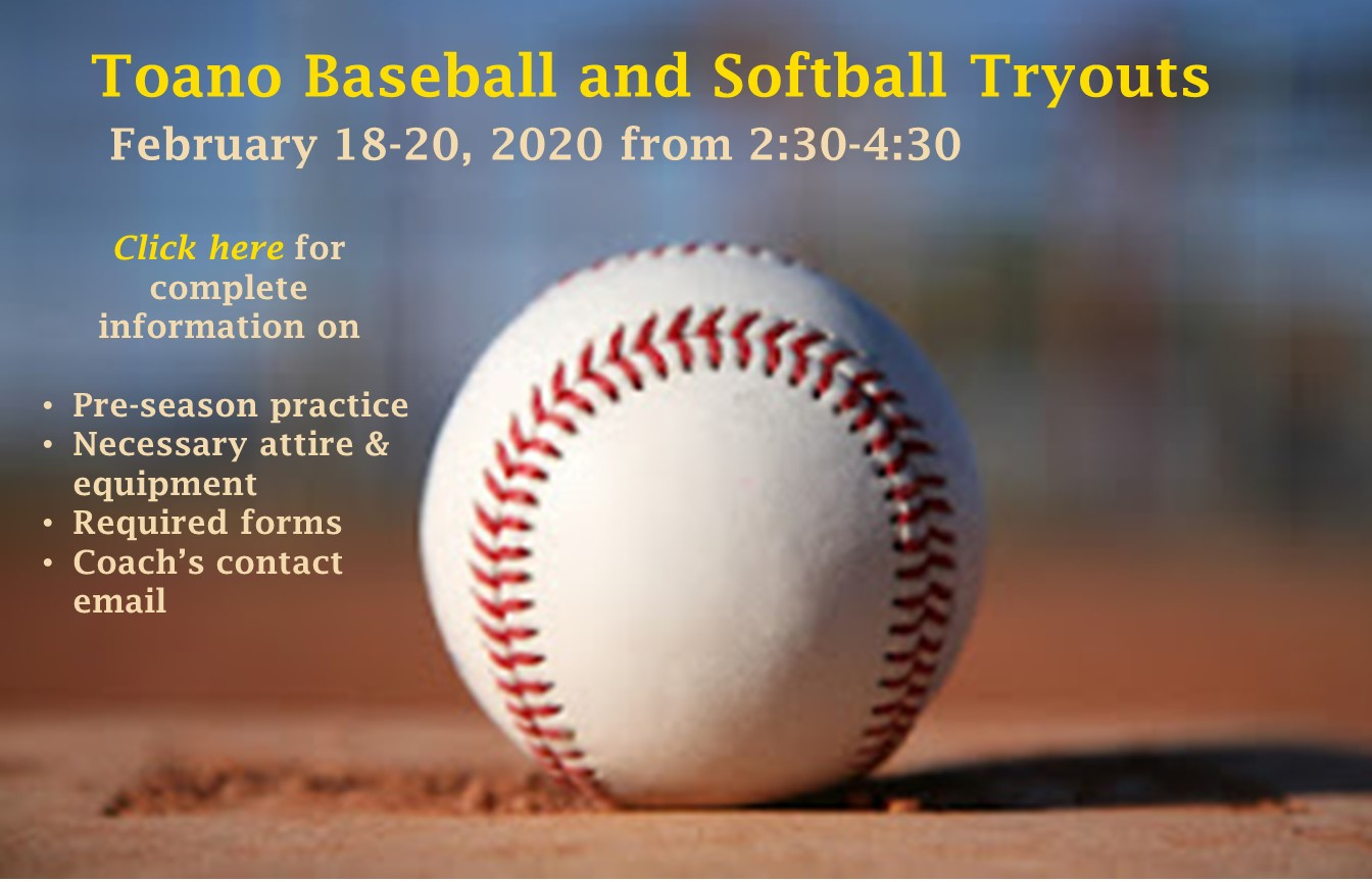TMS Softball and Baseball Info