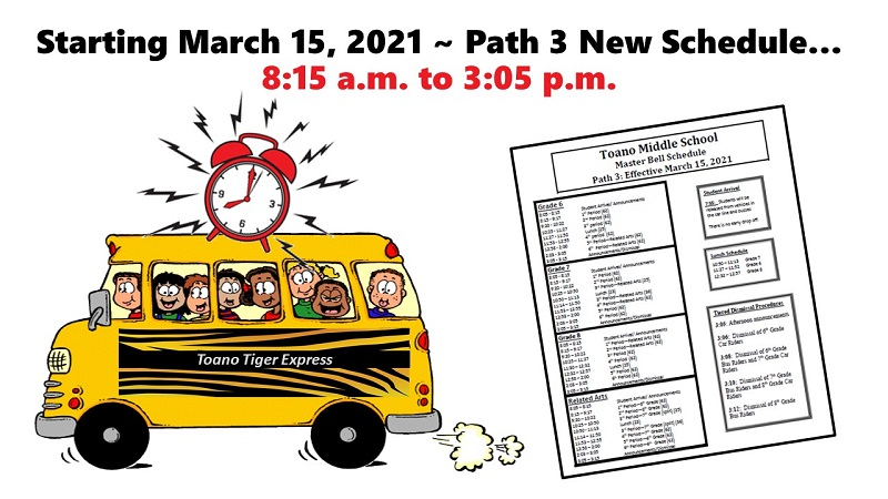 Path 3 New Bell Schedule Link