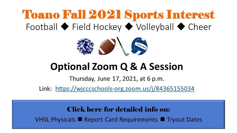 Fall Sports Info 2021