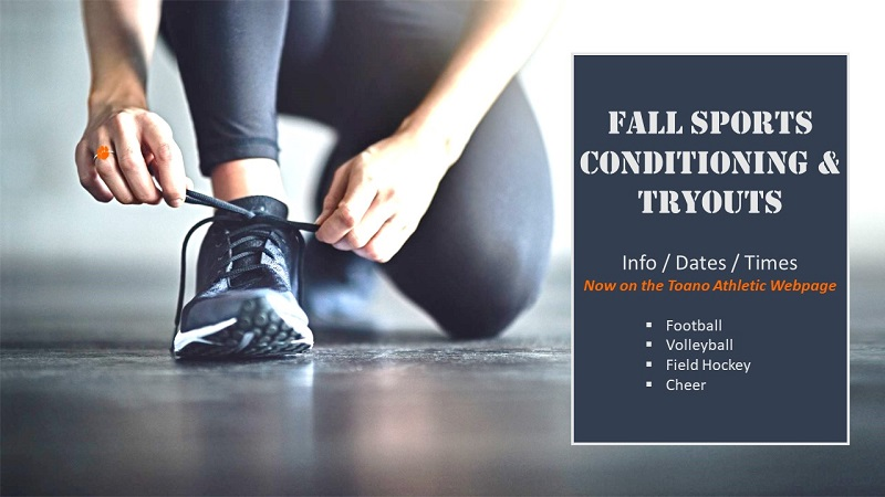 2021 Fall Sports Conditioning and Tryout Info