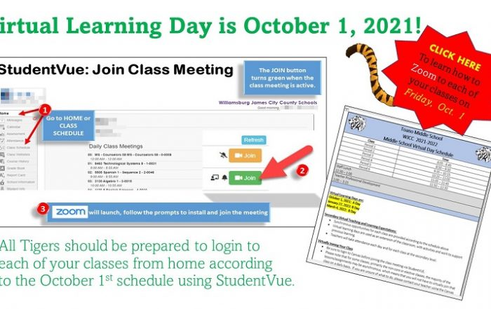 Directions for Virtual Learning Day