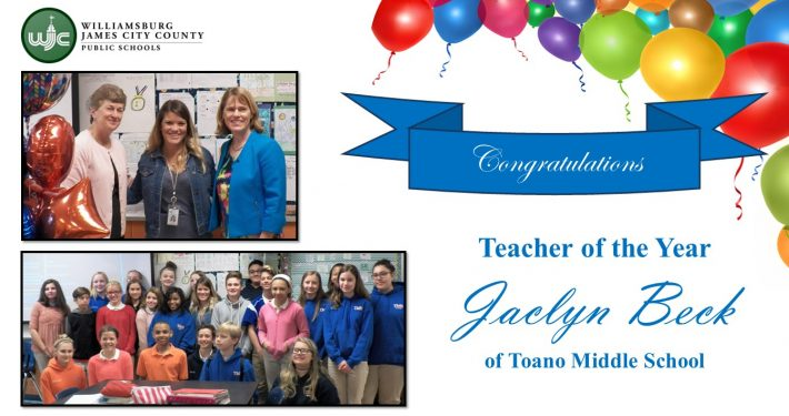 Middle School Teacher of the Year-Beck