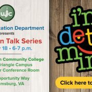 The I'm Determined project, a state-directed project funded by the Virginia Department of Education, focuses on providing direct instruction, models, and opportunities to practice skills associated with self-determined behavior for youth with disabilities. Transition Talk Series The I'm Determined Youth & Parents Summit for teens with disabilities and their families. The MOVE Program Youth & Parent Summit for African American male teens with disabilities and their families. Join us January 18th, 6-7 p.m. at Thomas Nelson Community College Historic Triangle Campus Media Center Conference Room. 4601 Opportunity Way, Williamsburg, VA For any questions please contact tonya.gokita@wjccschools.org.