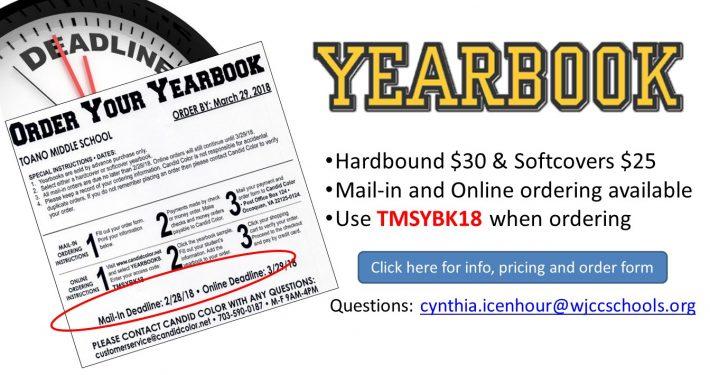 Yearbook Order Info