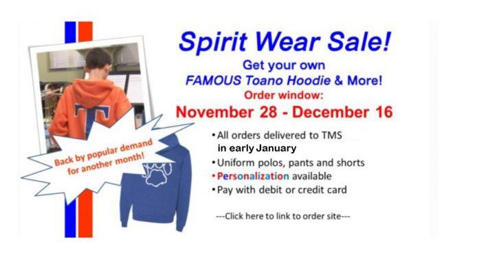 Spirit Wear Sale