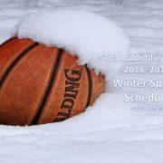2018-2019 Winter Sports Schedule