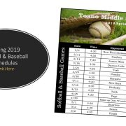 Spring Athletic Schedules