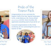 Support Staff of the Year and New Teacher of the Year