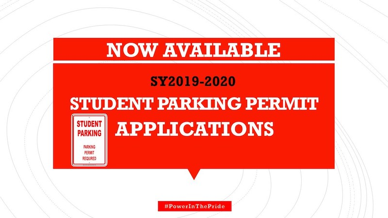 Student Parking Permit Applications Available