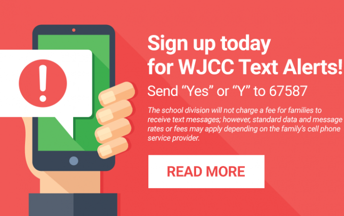 Sign up for WJCC Text Alerts