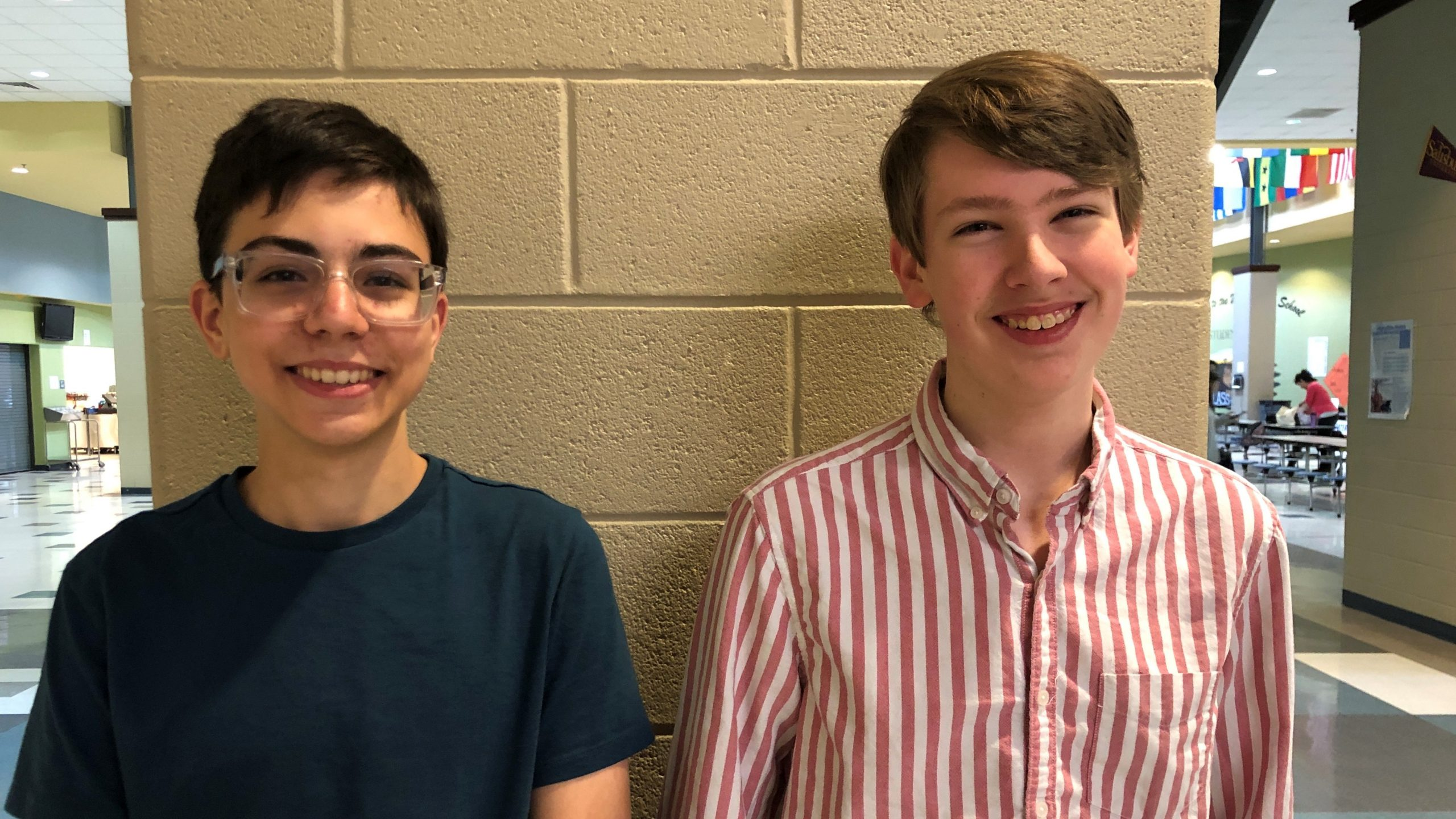 Two students who won the Congressional App Challenge