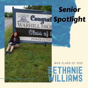 Senior Spotlight Bethanie Williams