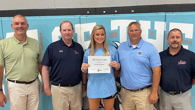 Kirsten Flannigan presented with All American Certificate