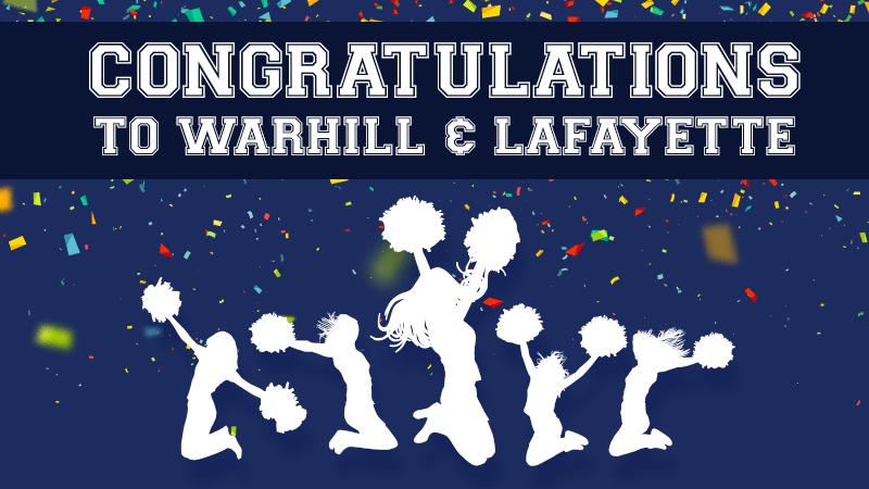 Congratulations to Warhill & Lafayette