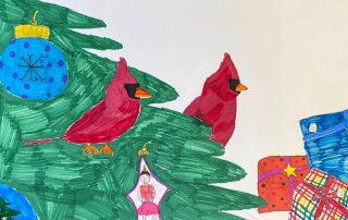 Christmas Tree Cardinal – Kaitlyn Wong, Matoaka Elementary School