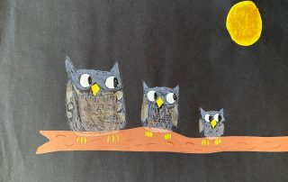 Snow Owls Under the Moon – Alexis Loftis, Norge Elementary School