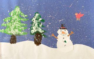 Snowy Snowman – Ellie Davis, Norge Elementary School