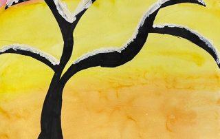Snowy Sunset – Delaney Herzog, Clara Byrd Baker Elementary School