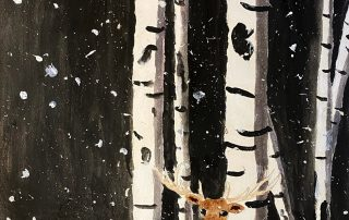 Stag in the Snowstorm – Lillian McDermott, Lois S Hornsby Middle School