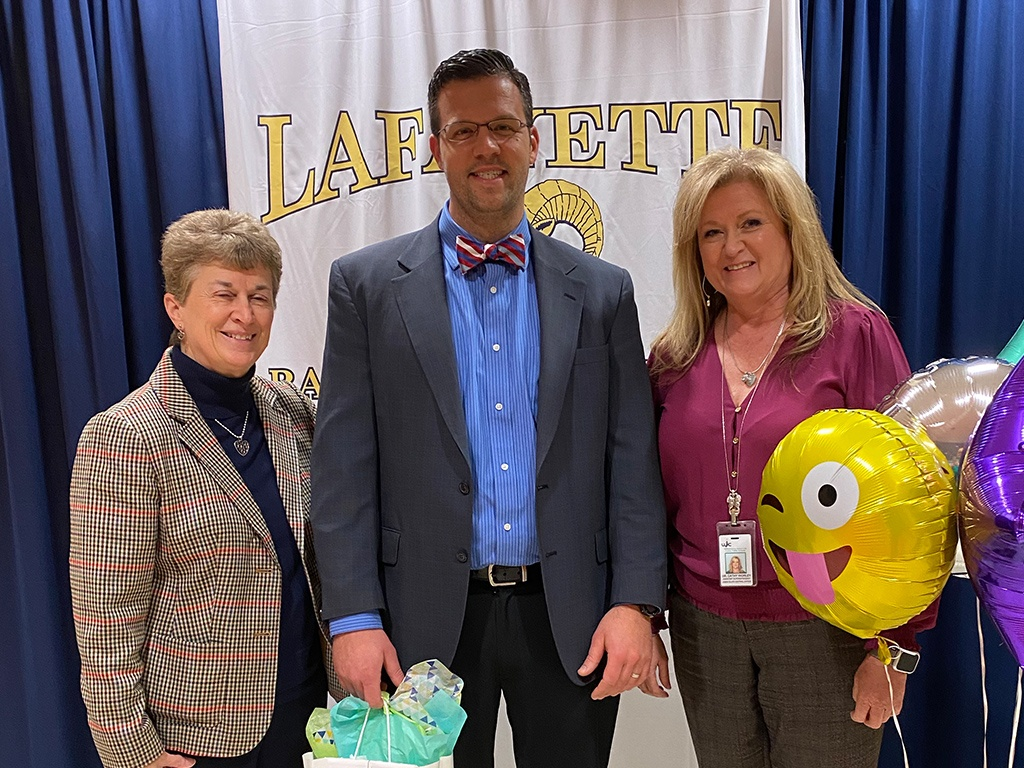 Assistant Superintendent, Cathy Worley, LHS Principal, Dan Miani and Superintendent, Olwen Herron, Ed.D.