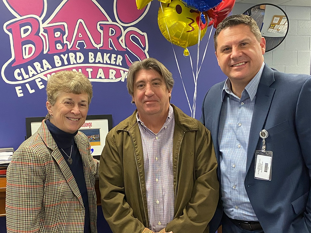 Assistant Superintendent, Sean Walker, CBB Principal, Mike Hurley and Superintendent, Olwen Herron, Ed.D.