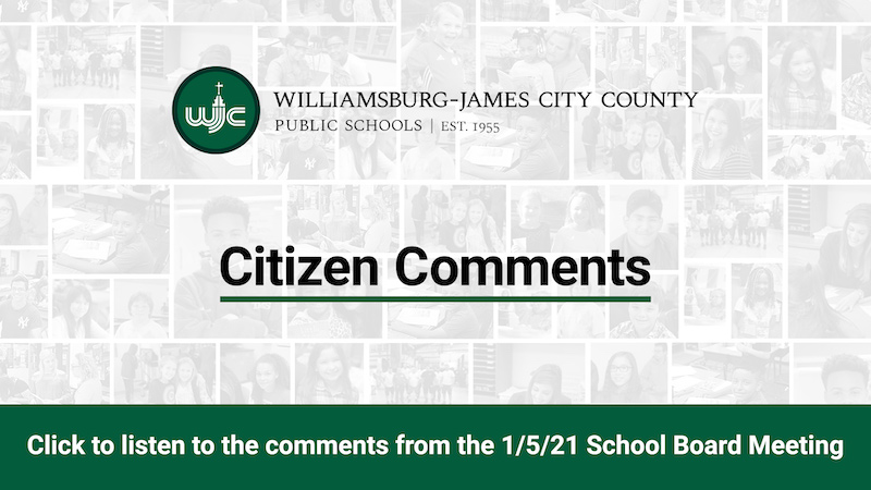 Citizen Comments from 1/5/21 School Board Meeting