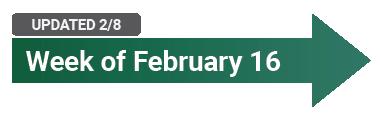 Week of February 16