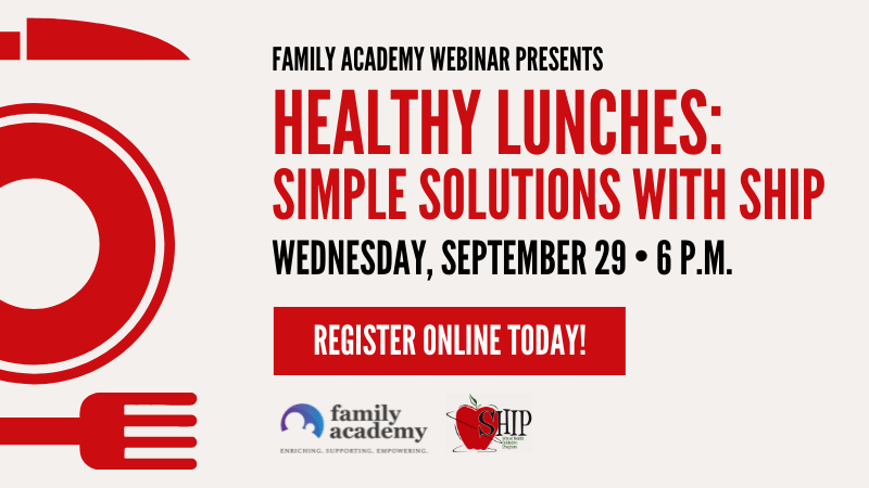 Healthy Lunches Simple Solutions with SHIP